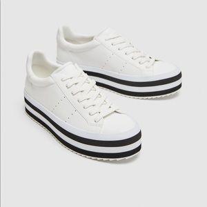 zara platform sneakers ISO!!!!!